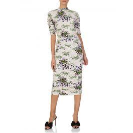 White 'Sea Lily' Midi Skirt