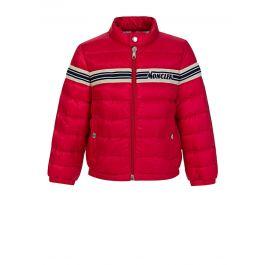 Red Stripe Puffer Haraiki Jacket