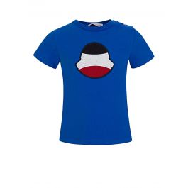 Blue Striped Logo T-Shirt
