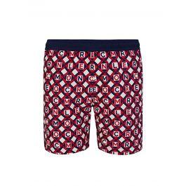 Red/Navy Printed Swim Shorts