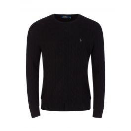Black Cashmere-Blend Knitted Jumper
