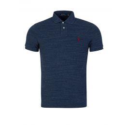 Blue Custom Slim-Fit Mesh Polo Shirt