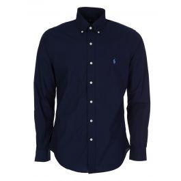 Navy Slim Fit Stretch Poplin Shirt