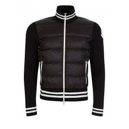 Black Puffa Zip Sweatshirt Jacket