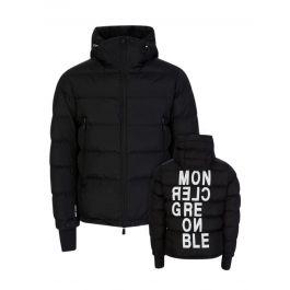 Black Isorno Padded Hooded Logo Puffer Jacket