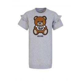 Kids Grey Bear Logo Dress