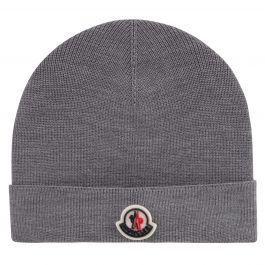 Grey Cuffed Beanie Hat