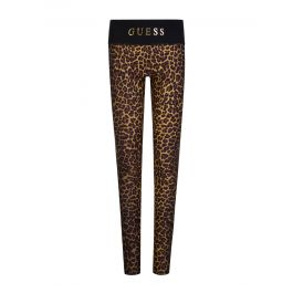Kids Black Leopard Print Leggings