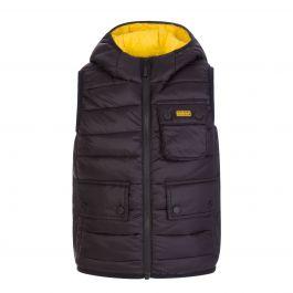 Black Ouston Hooded Gilet