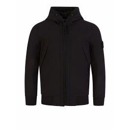 Junior Black Lightweight Hooded Jacket