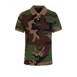Kids Green Camo Polo Shirt