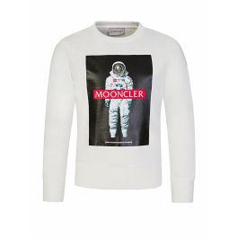 White Mooncler Astronaut Sweatshirt
