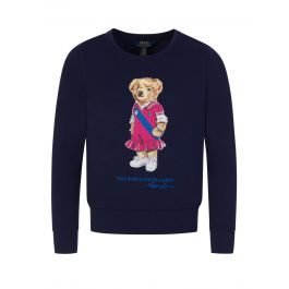Kids Navy Bear Fleece Sweatshirt
