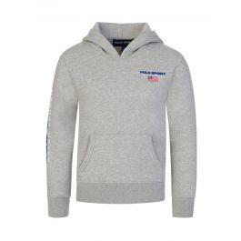 Grey Logo Fleece Hoodie