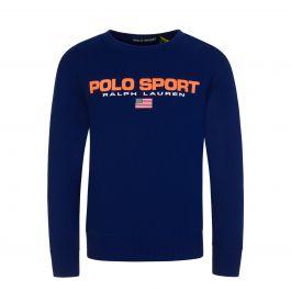 Dark Blue Fleece Logo Sweatshirt