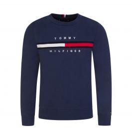 Kids Navy Flag Rib Insert Sweatshirt