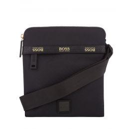 Black Logo Tape Pixel Zip Envelope Bag