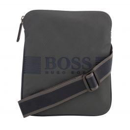 Black Pixel Zipped Envelope Bag