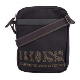 Black Magnified Pixel Logo Cross Body Bag