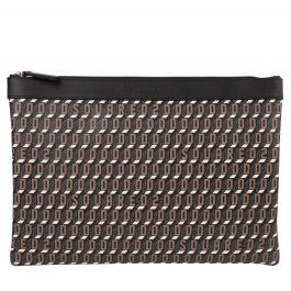 Brown D2 Monogram Clutch Bag