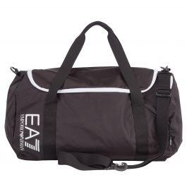 Black Oversized Logo Gym Bag