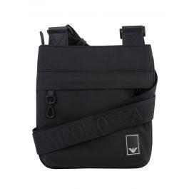 Black Nylon Eagle Logo Messenger Bag