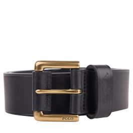 Black Leather Dress Belt