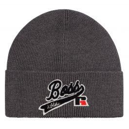 Grey Floley Beanie Hat