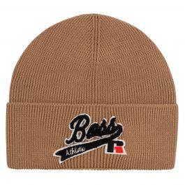 Beige Floley Beanie Hat