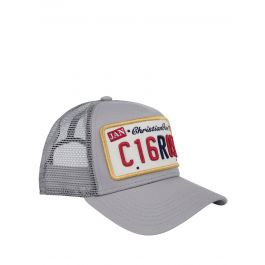 Grey Private Plate Trucker Cap