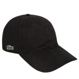 Black/Black Contrast Strap Cotton Cap