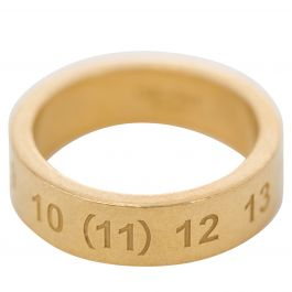 Gold Plated Numbers Ring