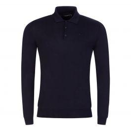 Navy Noel Light Merino Polo Shirt
