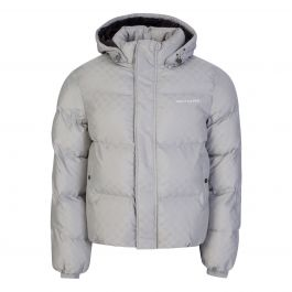 Grey Monogram Lavan Puffer Jacket