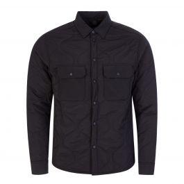 Black Nylon Padded Overshirt