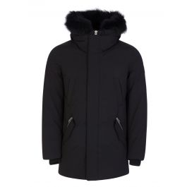 Black Edward-BX Fur Hooded Coat