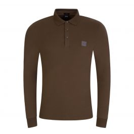 Dark Green Passerby Long Sleeve Polo Shirt