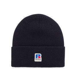 Dark Blue Fussell Beanie Hat