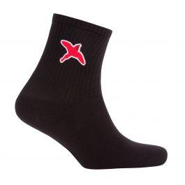 Black Rouge Bee Bird Tube Socks