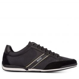 Black Bamboo-Charcoal Lined Saturn Low-Profile Trainers