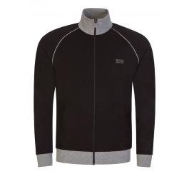 Black Mix + Match Funnel Neck Jacket