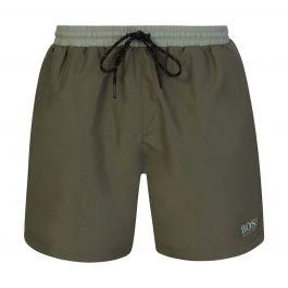 Green Beachwear Medium-Length Starfish Swim Shorts