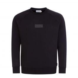 Black Modern Tape Sweatshirt