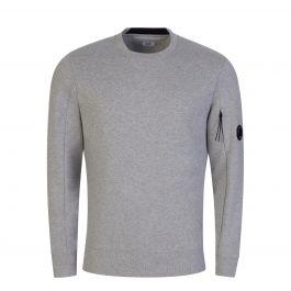 Grey Diagonal Raised Fleece Sweatshirt