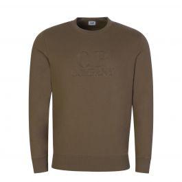 Green Raised Fleece Logo Sweatshirt