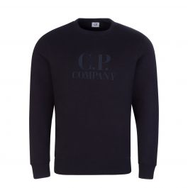 C.P Company Navy Fleece Logo Sweatshirt