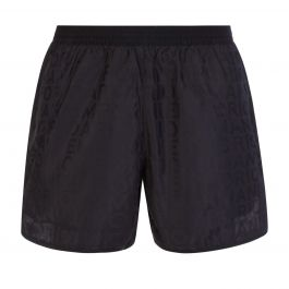 Black Allover Monogram Swim Shorts