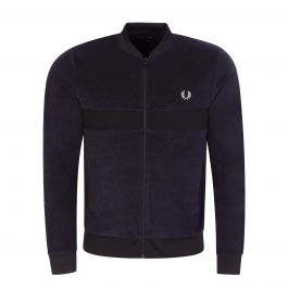 Navy Towelling Track Jacket