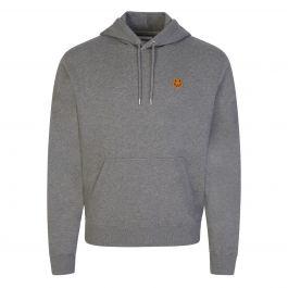 Grey Tiger Patch Logo Popover Hoodie