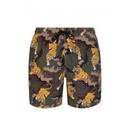 Green Gustavia Vintage Tiger Swim Shorts